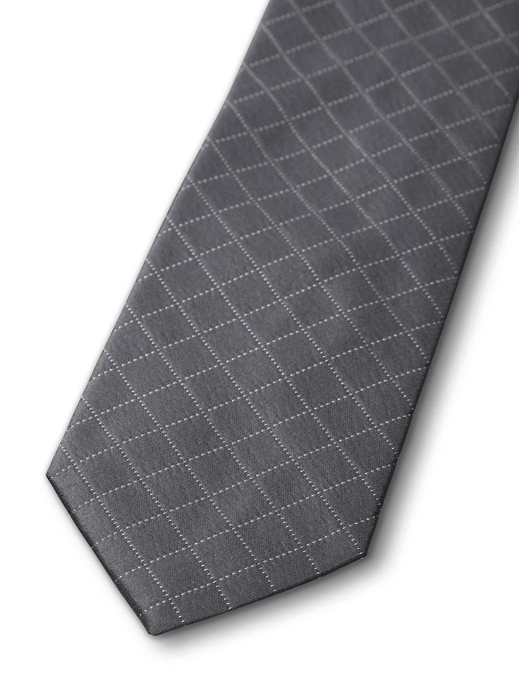COYPEL TIE-Men's tie in pure silk. Features a subtle woven check pattern. Tiger of Sweden logo on lining. Width: 7 cm. Made in Italy