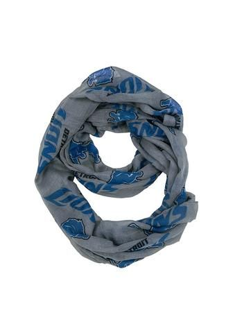 NFL Detroit Lions Gray Infinity Scarf