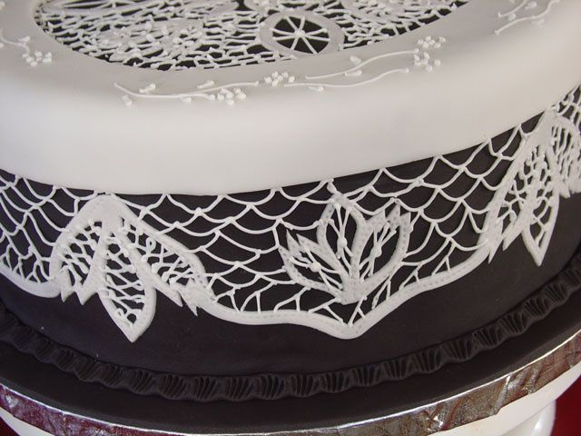 331 best images about royal icing patterns on pinterest for Lace templates for cakes