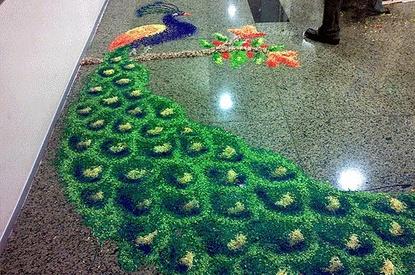 peacock rangoli designs 7