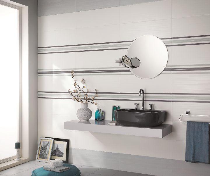 Piastrelle bagno, rivestimenti bagno, piastrelle in pasta bianca ...