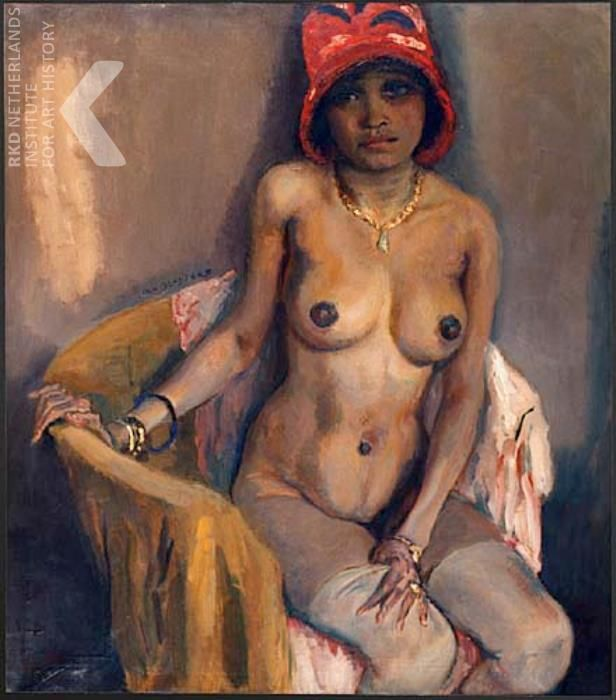 Jan Sluijters - Negerin met rode hoed ca. 1927 olieverf / doek, 107 x 95 cm