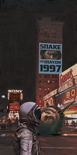 'Escape from New York' painted for Crazy 4 Cult NY Pop Culture art show, by Scott Listfield