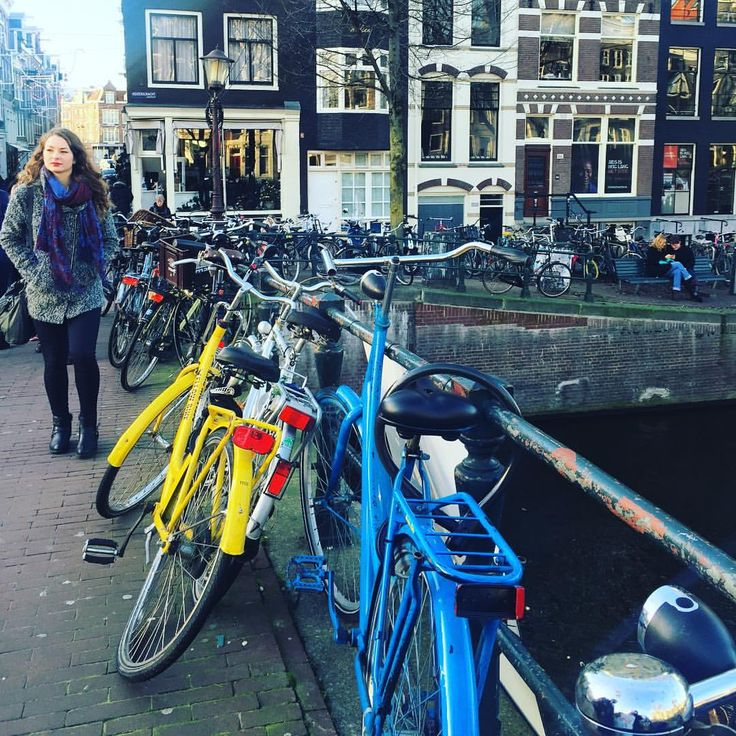 I enjoy every moment as I enjoy every picture. — Colorful bicycles on the streets of Amsterdam ...