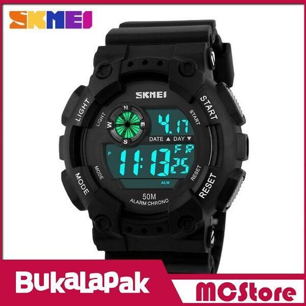 Beli MCStore Jam Tangan Pria SKMEI Military Sport Watch Water Resistant 50m - DG11011 - Hitam/Putih dari MCStore habibwaldani - Jakarta Barat hanya di Bukalapak