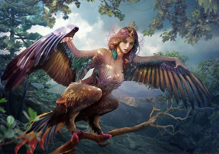 Sirin. São criaturas antigas da mitologia Eslava e Russa. Acredita-se que elas viviam acerca do rio Eufrates, próximas do Éden. São vistas como simbolo de alegria, muitos poucos mortais já as viram. Dizem que quando se ouve uma voz de uma Sirin você ouve o som do mundo todo, e em instantes morre. Por isso as Sirins são vistas como criaturas malignas.