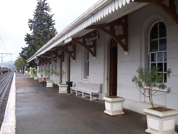South Africa - train station in Matjiesfontein