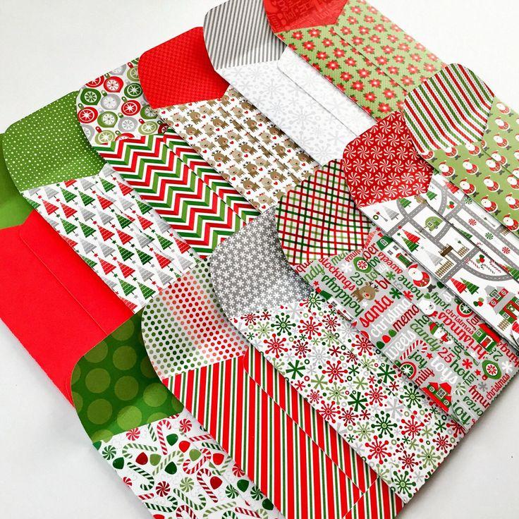 Christmas Gift Card Holders, Christmas Gift Card Envelopes, Gift Card Holders, Gift Card Envelope, Mini Envelopes,  Christmas Gift Wrapping by blueberrysprinkles on Etsy https://www.etsy.com/listing/466871616/christmas-gift-card-holders-christmas