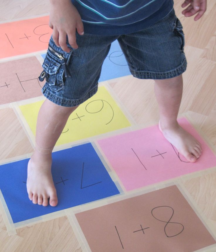 Addition Hopscotch- Can be used for subtraction, multiplication, and division.