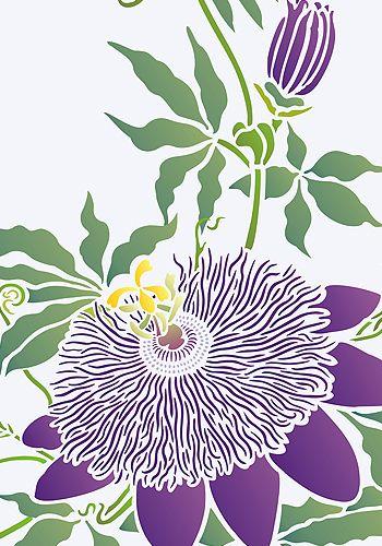 Страсть Цветок Трафарет Негабаритных Цветок Страсти