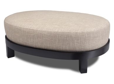In stock at www.wassersfurniture.com  An oval ottoman with masculine proportions, the Matt ottoman serves as a distinctive anchor piece for the sophisticated room. The clean crisp cushion is balanced by a chunky wood base which lends a casual air to this piece. A versatile addition whether you're putting up your feet or displaying your favorite design books.
