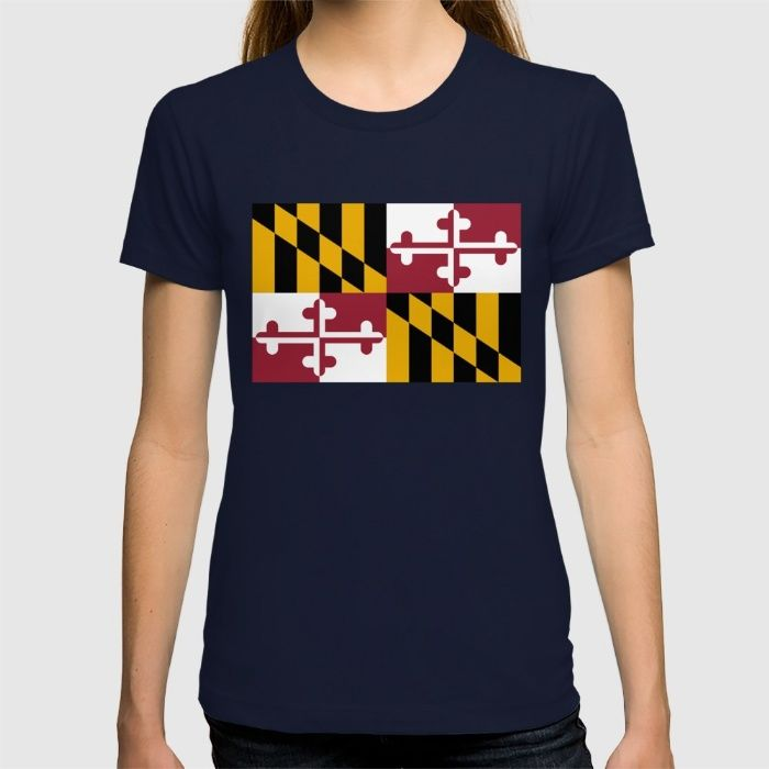 Flag of Maryland - Authentic High Quality image T-shirt #Maryland #state #flag #stateflags #marylandflag #annapolis