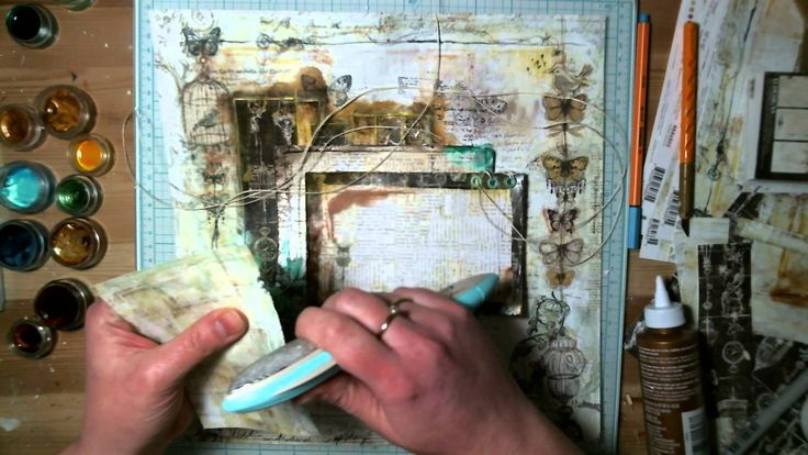 Once upon a time - mixed media layout - step by step by Kasia Bogatko