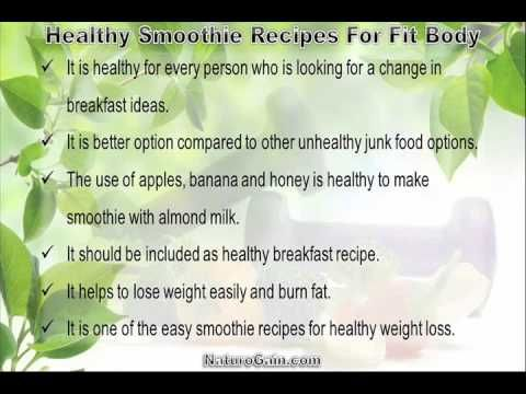 This video describes about yummy and healthy smoothie recipes for fit body. You can find more detail about Home recipes at http://www.naturogain.com