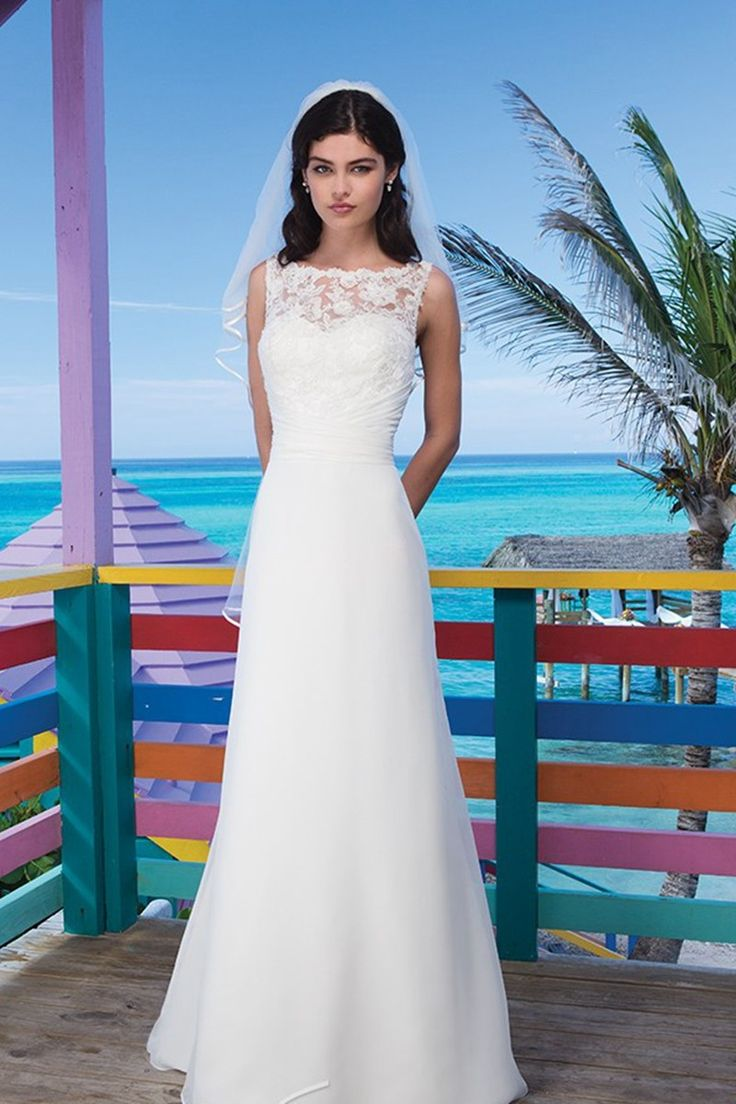 The 88 best Beach Wedding Dresses images on Pinterest | Wedding ...