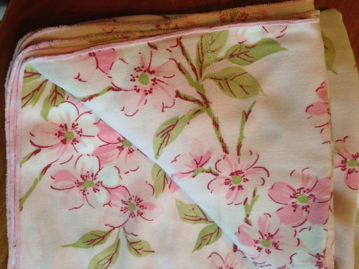 Charming Vintage Fifties Pink Cherry Blossom Tablecloth Floral Asian (32.00 USD) By  SpaceModyssey