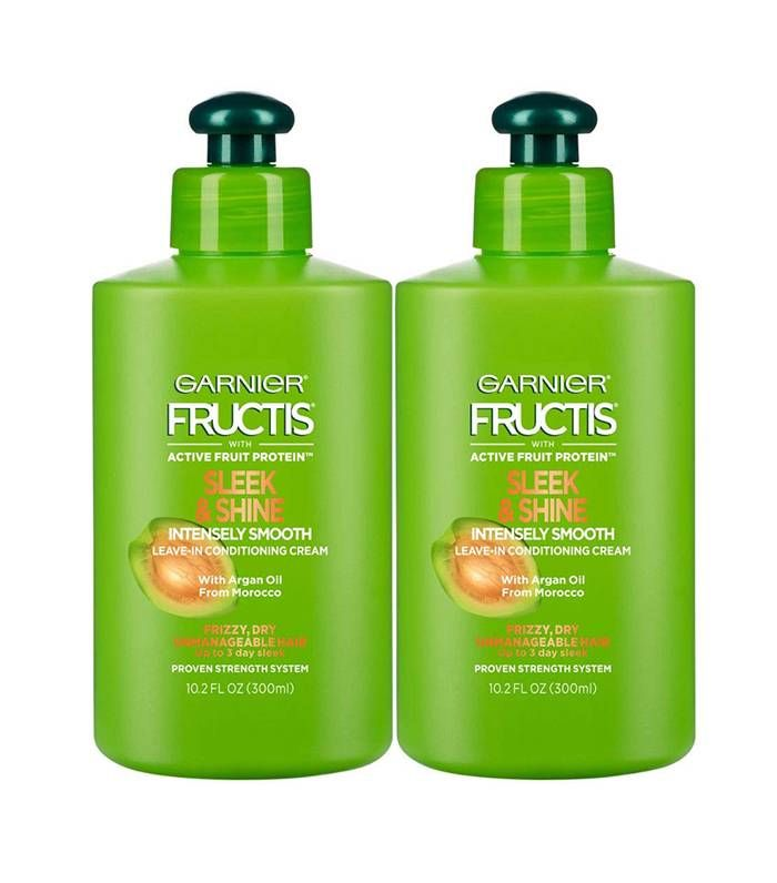 The 15 Best Drugstore Leave In Conditioners For Dry Hair Who What Wear Anti Frizz Products Garnier Fructis Palmers Coconut Oil Formula