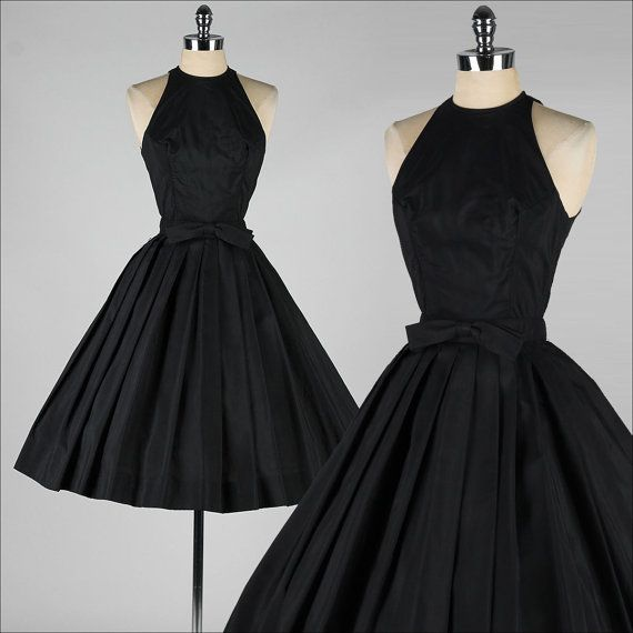 vintage 1950s dress . SUZY PERETTE . black by millstreetvintage