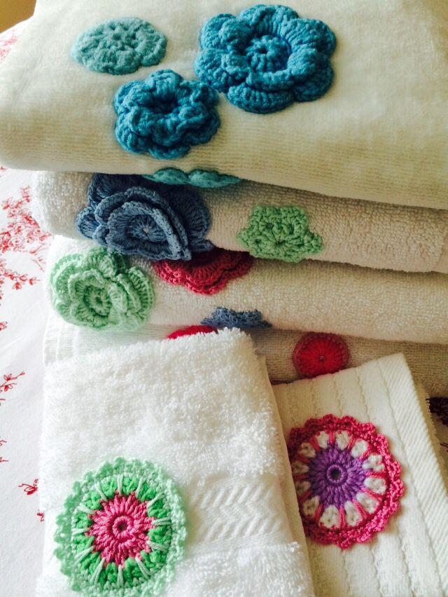 Crochet havlu süsleme