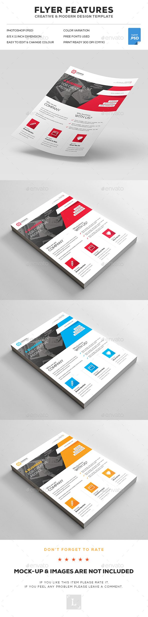 Business Flyer Template PSD. Download here: http://graphicriver.net/item/business-flyer/16828420?ref=ksioks