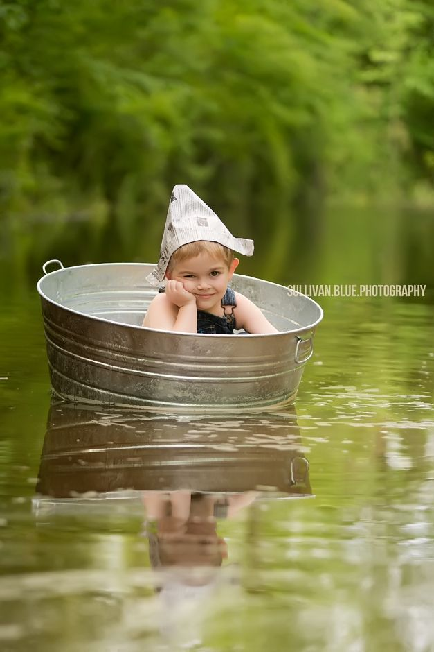 Lindsey mills for Sullivan blue photography, boat, river, marsh, paper hat…