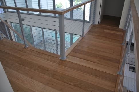 An example of 180mm wide Blackbutt flooring.