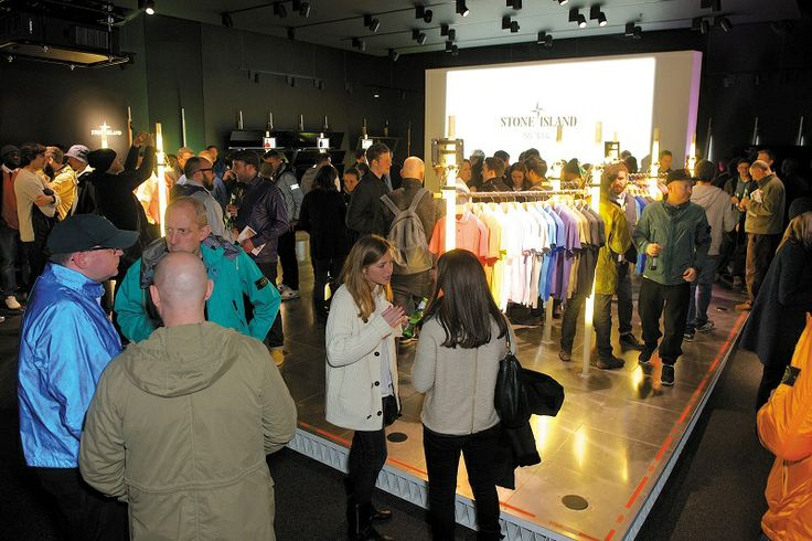 Stone Island Colour_In Store London Event 20th March 2014 Showcasing Stone Island's expertise of the technique of garment dyeing through the Spring Summer '014 Collection.
