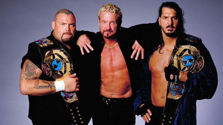 DDP With WCW World Tag Team Champions Bam Bam Bigelow & Chris Kanyon