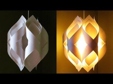 Ogee paper lamp - how to DIY an elegant paper pendant lamp/lantern - EzyCraft - YouTube