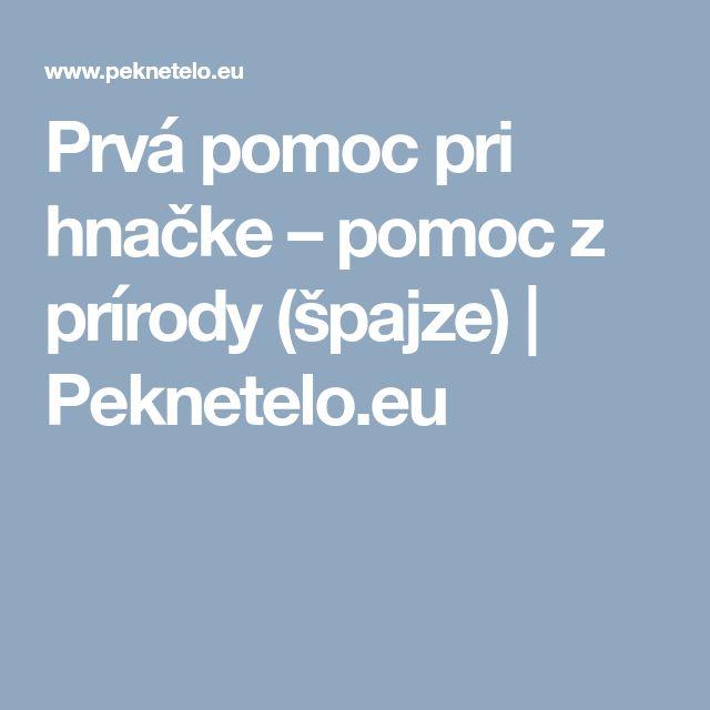 Prvá pomoc pri hnačke – pomoc z prírody (špajze) | Peknetelo.eu