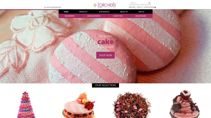 <p>Our amazing range of cakes, french macarons and cupcakes are handmade, natural and highly fashionable. Order online for Collection or London delivery.</p>