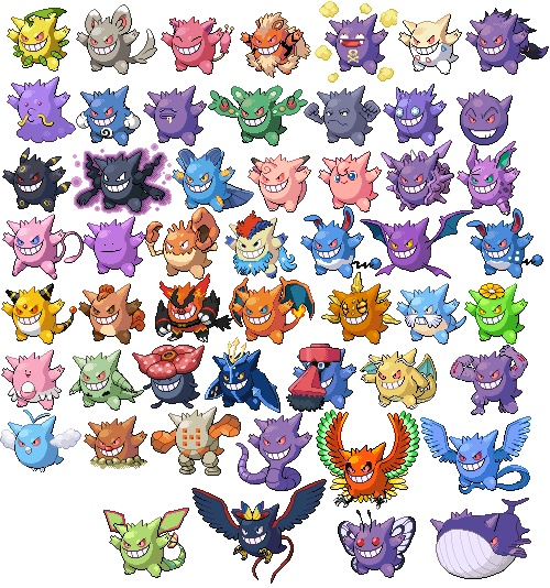 Gengar Fusions Pokemon Pinterest