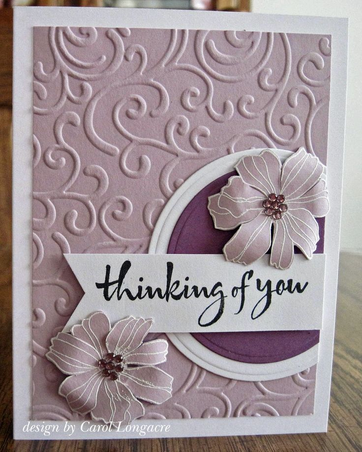 thinking of you card by Carol Longacre
