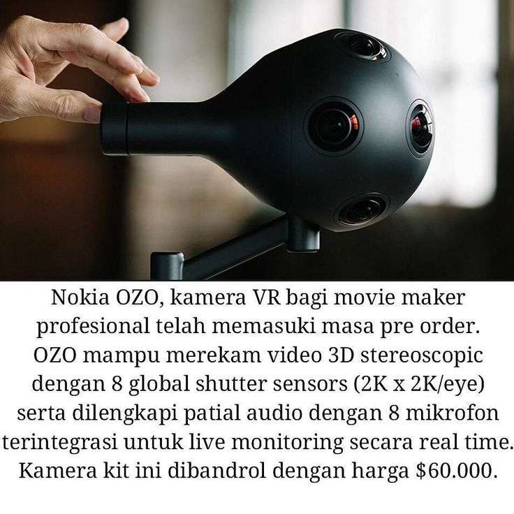 An awesome Virtual Reality pic! You need $60.000 in hand to purchase Nokia OZO. It'll make fantastic VR contents in the future.  Full specs -> www.shintavr.com (bahasa & English). #ozo #nokiaozo #moviemaker #vrcamera #kamerakit #vr #shintavr #vrindonesia #indonesiavr #virtualreality #oculus #gearvr #oculusrift #dagelan #indogramers #gamer #edhozell by shintavrid check us out: http://bit.ly/1KyLetq