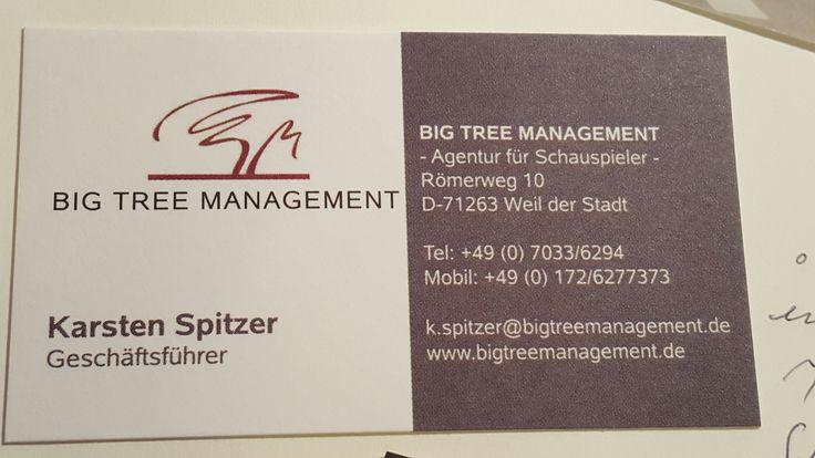 2008 Gründung der Schauspielagentur Big Tree Management