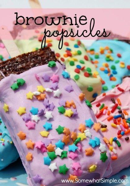Kid's Party Food: Popsicle Brownies - Spaceships and Laser Beams