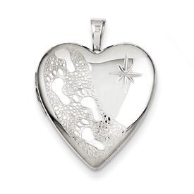 It was then that I carried you - Heart Locket with 18 inch chain (Reverse Text) ~ Miscarriage, Stillbirth, Infant and Child Loss Jewelry ~ ROB-116