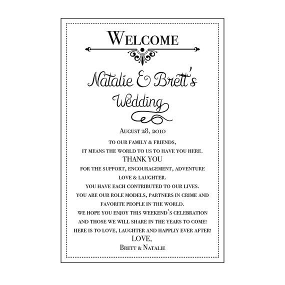 Welcome Bag Wedding Welcome Bag Welcome Bag Kit by NMTMdesigns