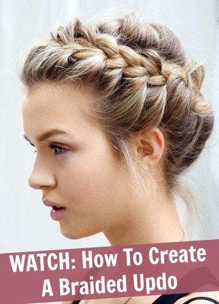 Great for dances. Don't pay someone else to do your hair! Video Tutorial: How to create a braided updo