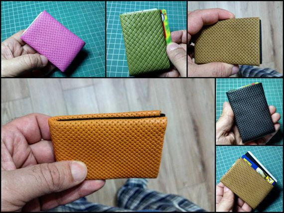 Limited Edition NERO Wallet - Nappa Leather Wallet - Slim Mens Wallet, Womens Wallet, Minimalist Wallet RFID Blocking Perfect Gift
