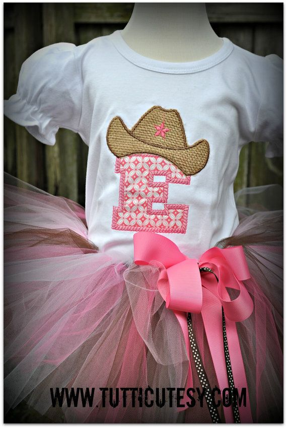 Pink Cowgirl Tutu Outfit by tutticutesytutus on Etsy, $54.99