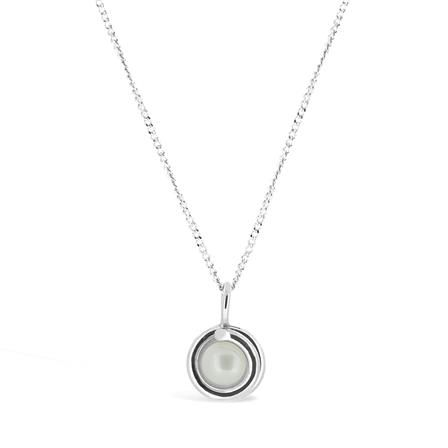 ACHICA | Maree London Necklace with Pearl, Silver