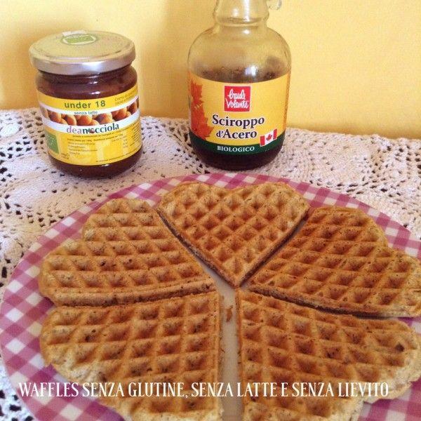 waffles senza glutine, senza latte e senza lievito -Waffles  #glutenfree and #dairyfree  www.ilcaffedellemamme.it