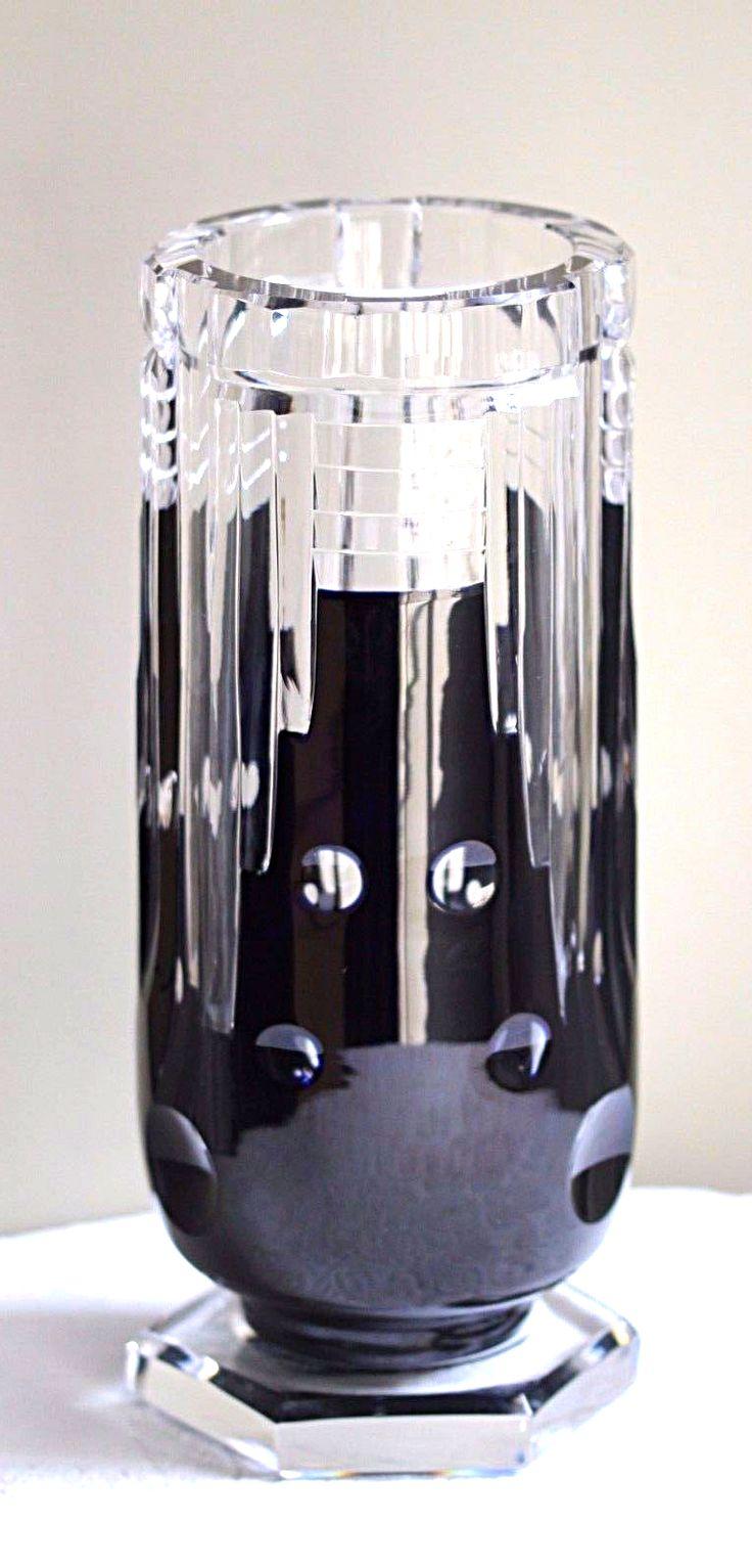 1286 best crystalglass vases images on pinterest glass vase val saint lambert vase cteaux vase en cristal clair doubl bleu fonc floridaeventfo Image collections
