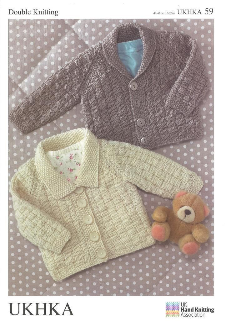 7e35ac885 Double Knitting Pattern Cardigans Wool 0 To 6 Years Baby 41-66 cm 16 ...
