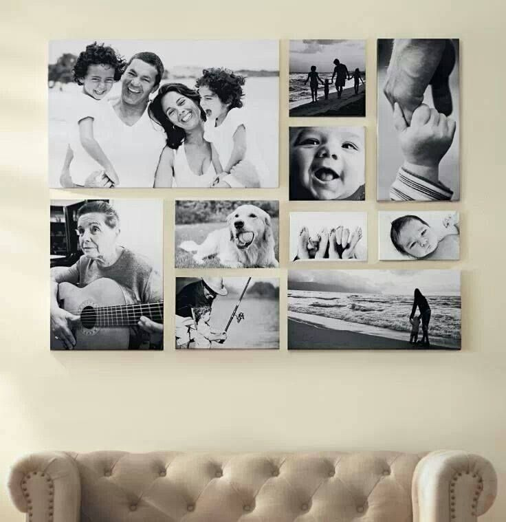 Picture Frame Collage - Above Sofa