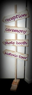 Hoity Toity Crafts directional sign - low budget wedding ideas