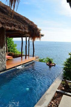 Je n'irai pas dans cet hôtel mais j'espère au moi's avoir cette vue ! Thailand, Ko Tao. View Point Resort, photo Lejardindeclaire.