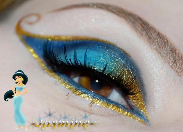 trucco-occhi-Jasmine-di-Aladin-principessa-disney