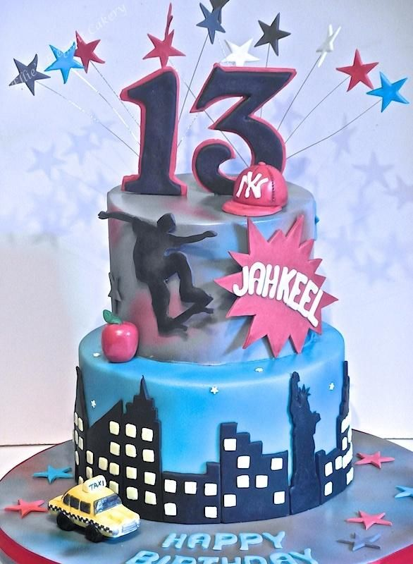 New York with a hint of skate boarding - Cake by Ellie @ Ellie's Elegant Cakery